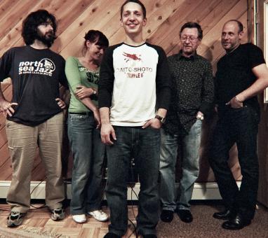 Sam Yahel, Zeurítia, Libor Šmoldas, George Mraz, Jeff Ballard (foto Michal Nanoru)